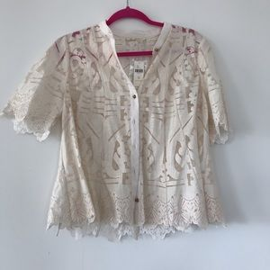 Anthropology lace shirt